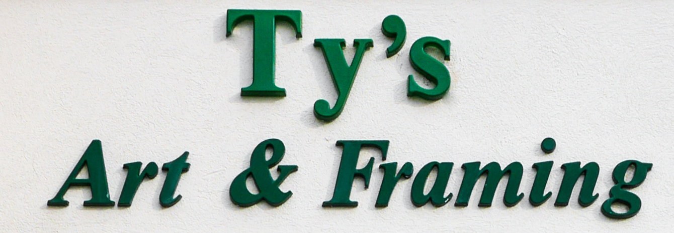 Ty's Art & Framing Sign at frame shop in Fayetteville NC