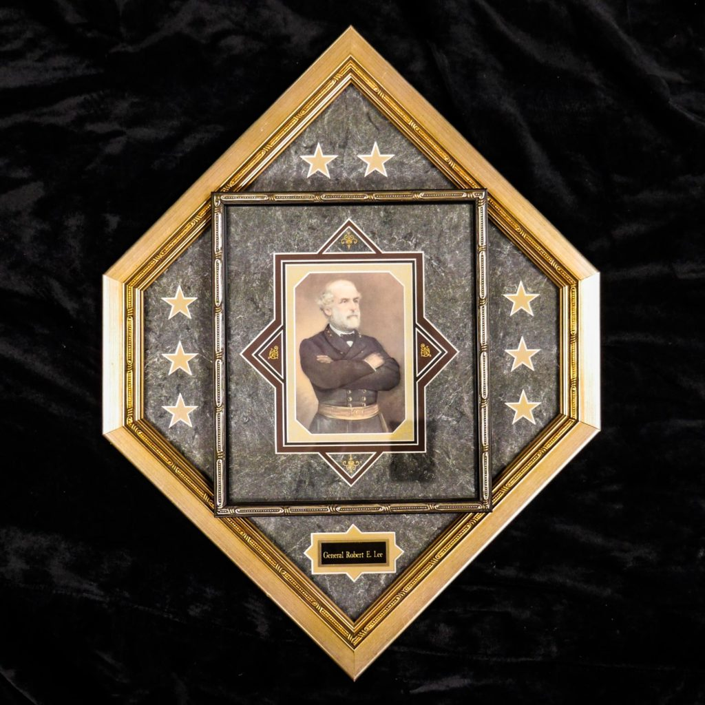 Custom picture framing of General Robert E. Lee Civil War Fayetteville, NC